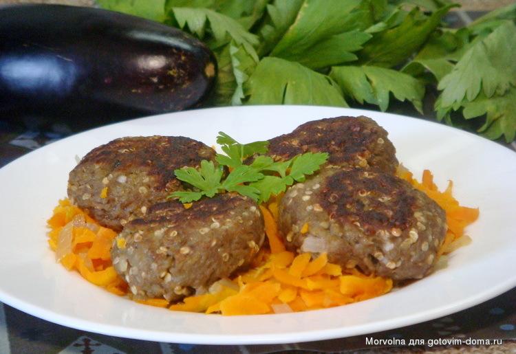 Рецепт вкусных котлет из баклажан и кабачков