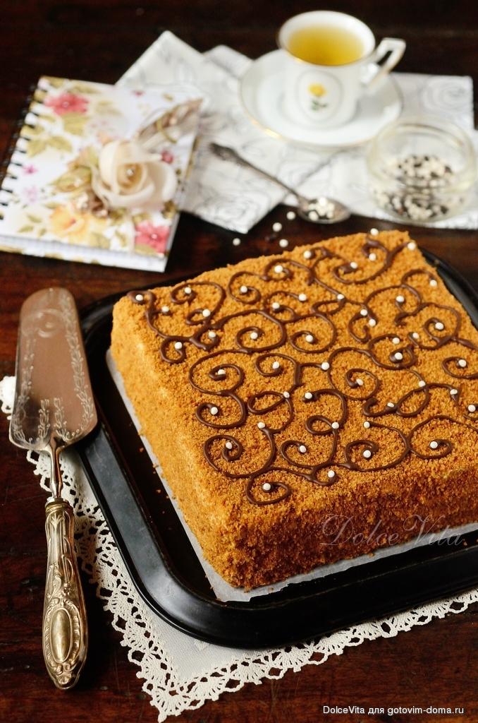 рецепт медовых коржей для торта с фото