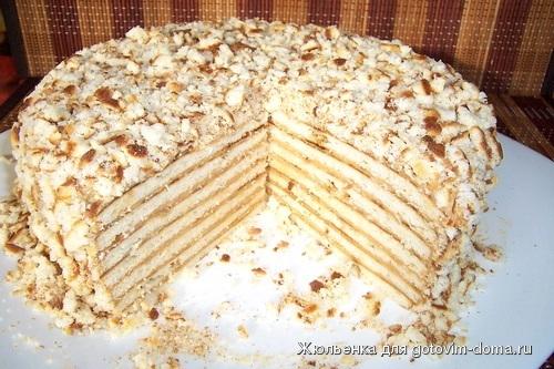 Торт на сковороде с заварным