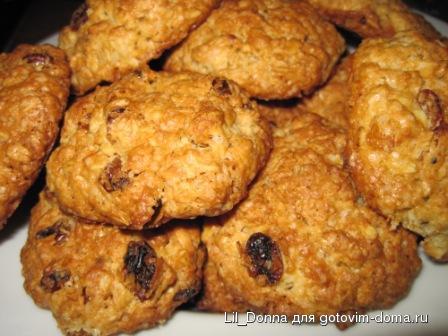 рецепт печенья с изюмом из перекрестка
