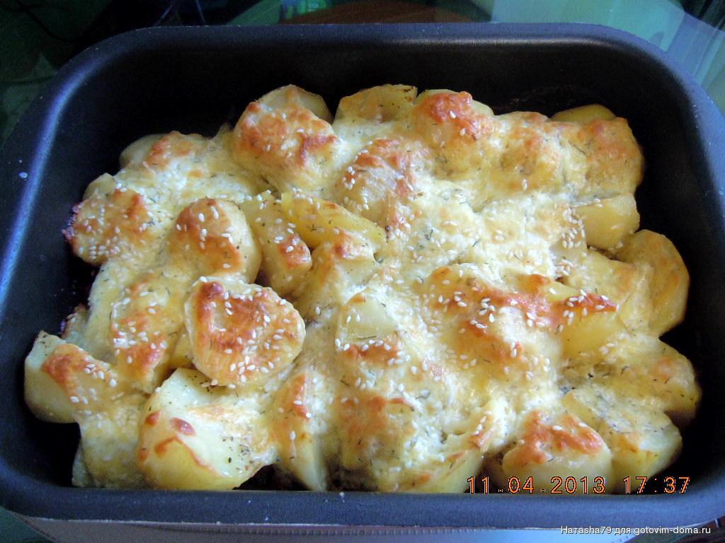 Картошка с плавленным сыром