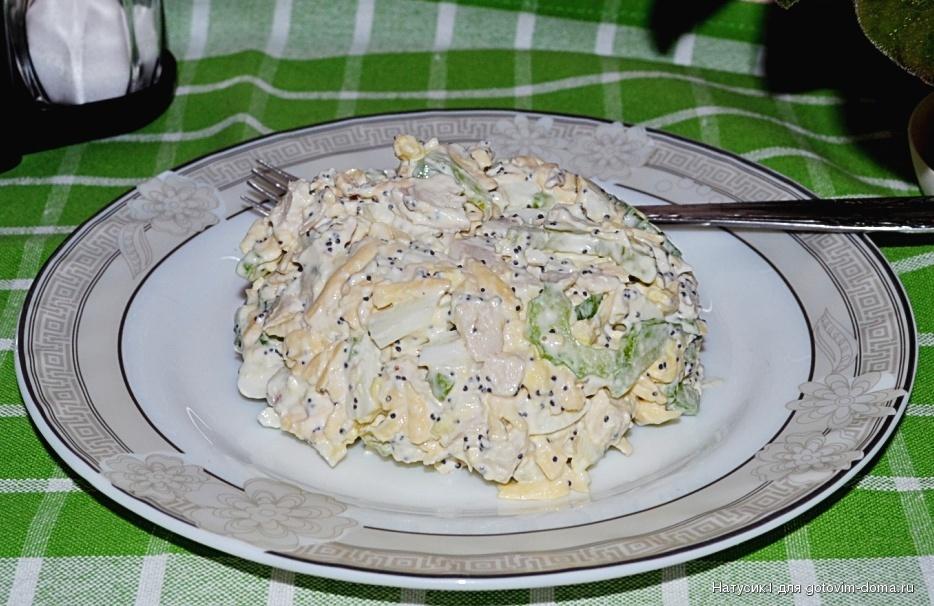 Рецепты салатов из вареной куриной грудки