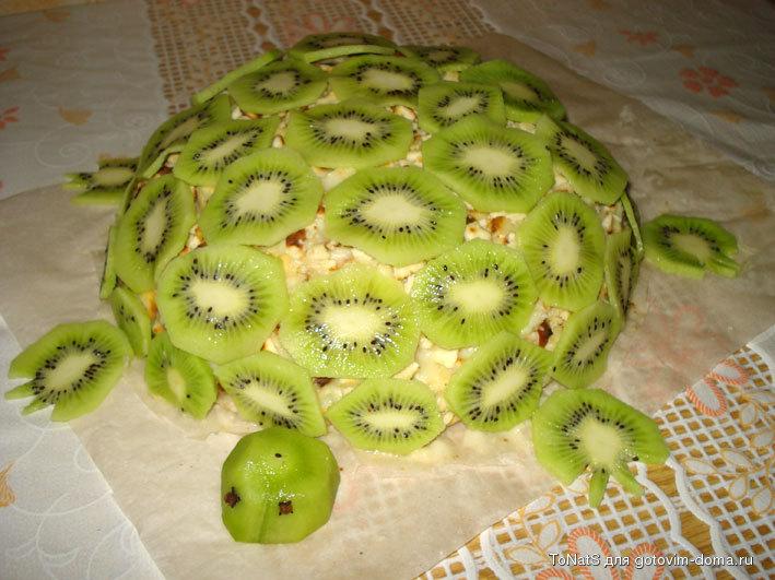 Рецепт торт черепаха с киви