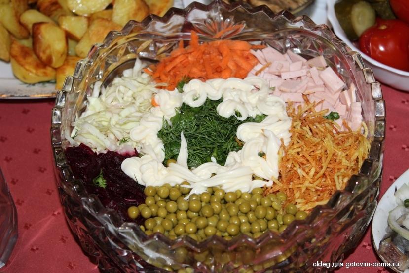 Салат огни парижа рецепт с фото пошагово