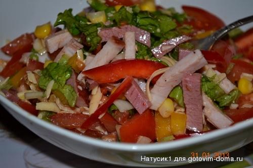 Салат мясо овощи