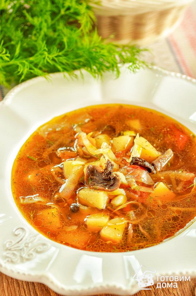 Рецепт супа с грибами и капустой рецепт