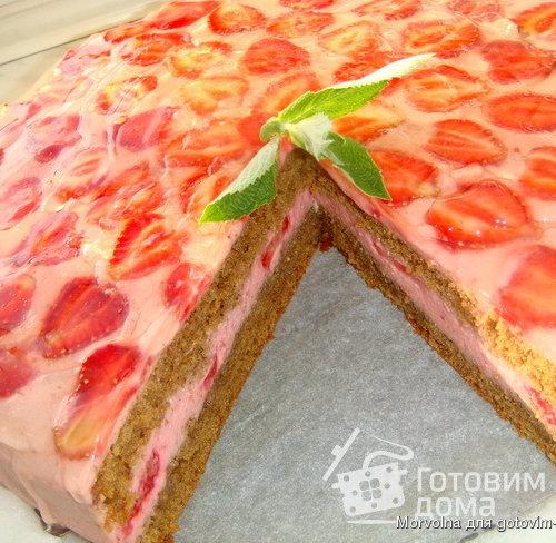 торт суфле с клубникой рецепт