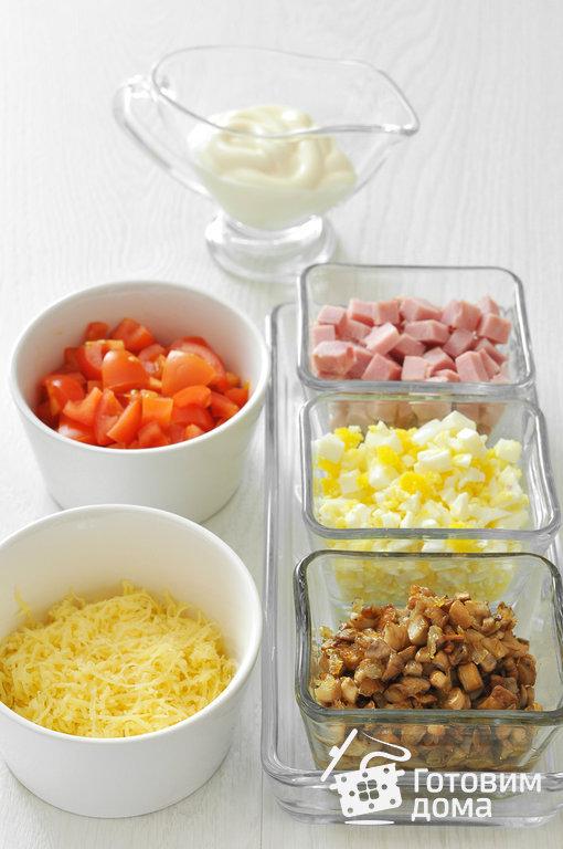 Салат из ветчины с шампиньонами - пошаговый рецепт с фото на Готовим дома