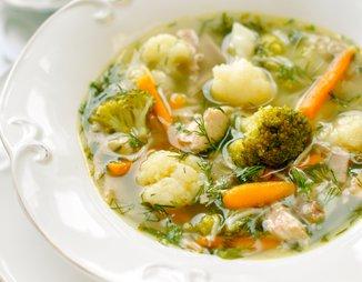 рецепт супа с цветной капустой и с курицей