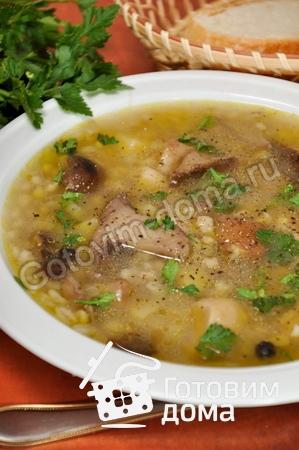 суп с шампиньонами и перловкой рецепт с фото