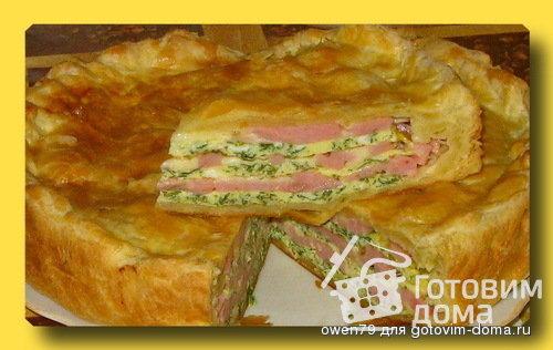 Пирог с сыром слоеное тесто