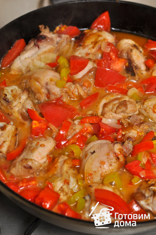 рецепт общая каллорийность блюда чахохбили из курицы