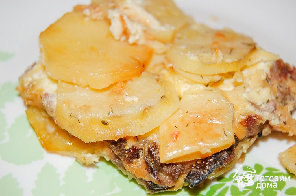 Картофельная запеканка из фарша с грибами в духовке — pic 2