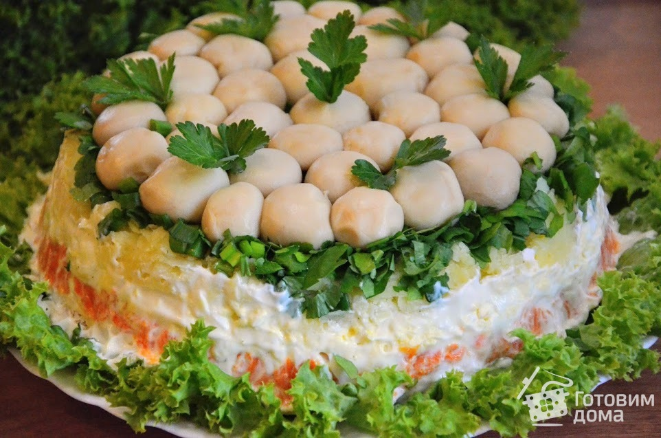 Рецепт салата грибная поляна с фото пошаговый