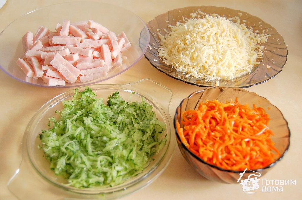 Салат морковь по-корейски ветчина кукуруза