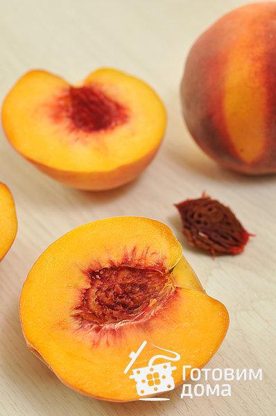 Запеченные персики, фаршированные миндалем - пошаговый рецепт с фото
