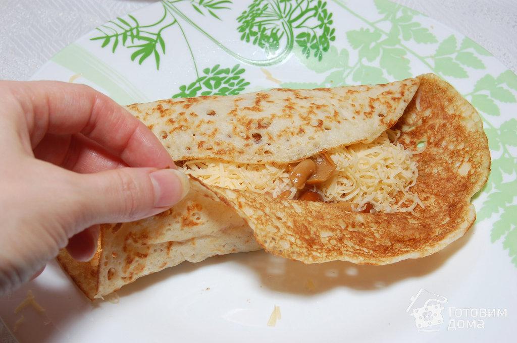 блины с ветчиной сыром и помидорами рецепт с фото пошаговый