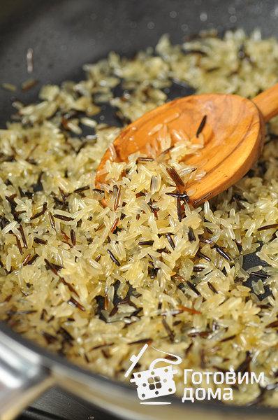 Рис с грибами и бобами – кулинарный рецепт