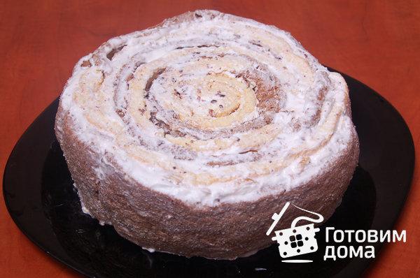 """Торт """"Очарование"""" (бисквит со взбитыми сливками и фруктами) фото к рецепту 14"""