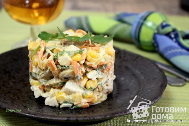 салат с курицей и с маринованными огурцами рецепт