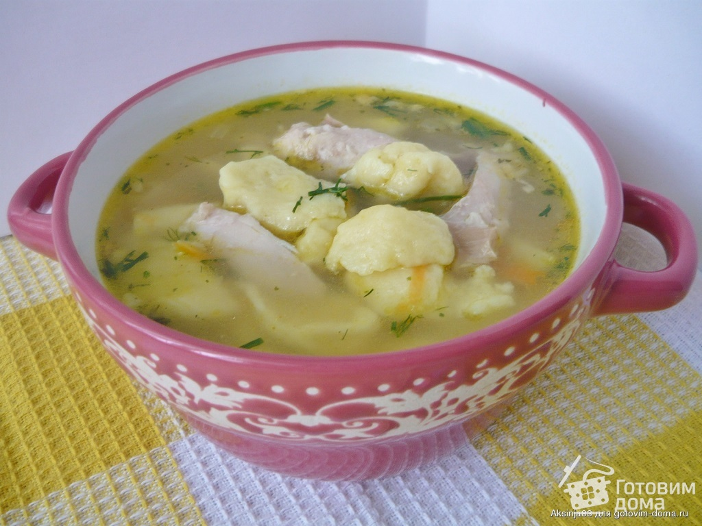 рецепт супа с клецками готовим дома