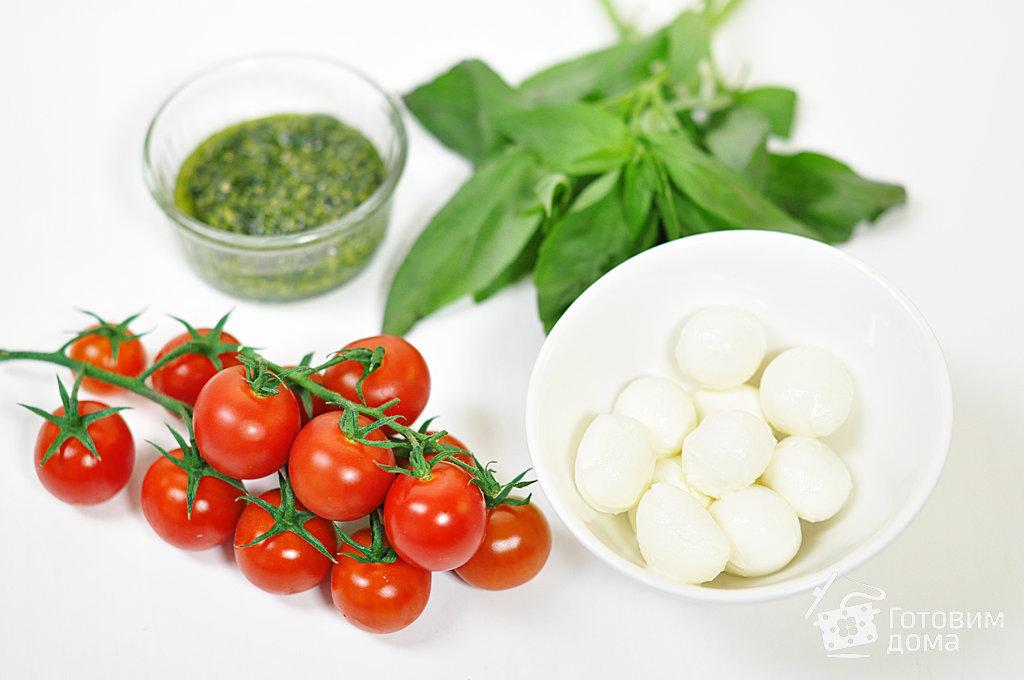 Канапе с мини-моцареллой и помидорами черри - пошаговый рецепт с фото на Готовим дома