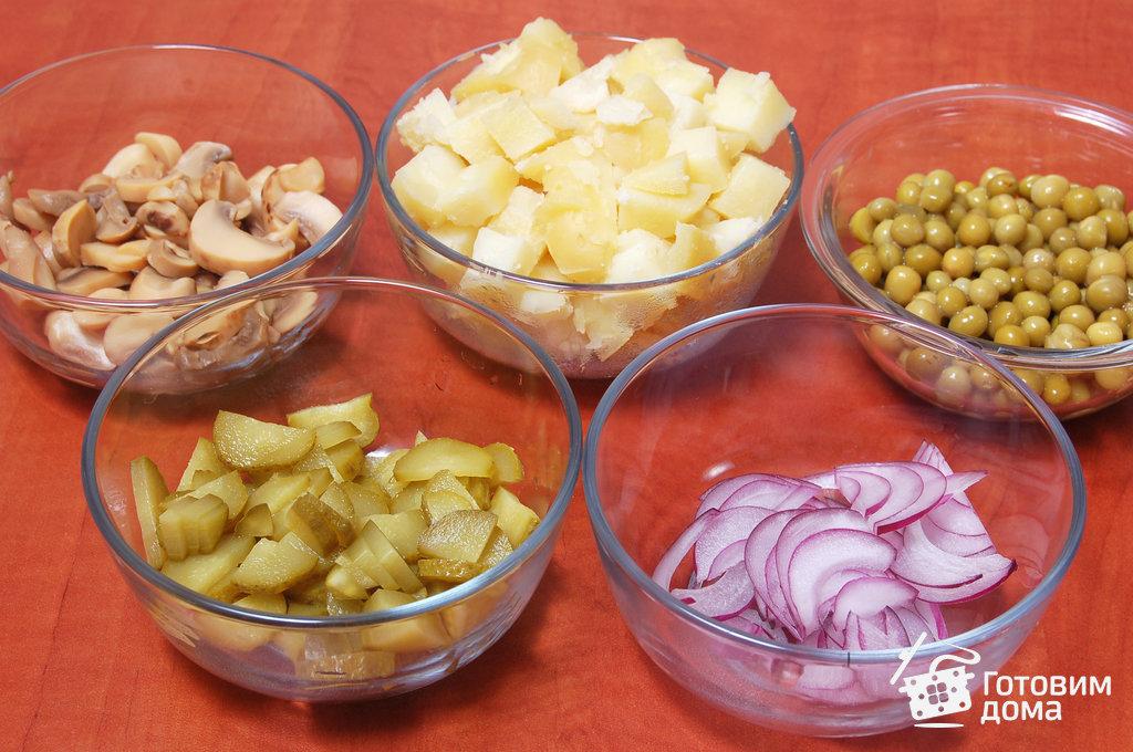 салат картошка с грибами рецепт