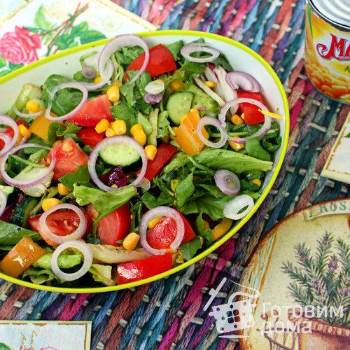 Рецепты салатов овощных из кукурузы