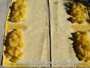 """Слойки """"Яблочные жалюзи"""" фото к рецепту 3"""