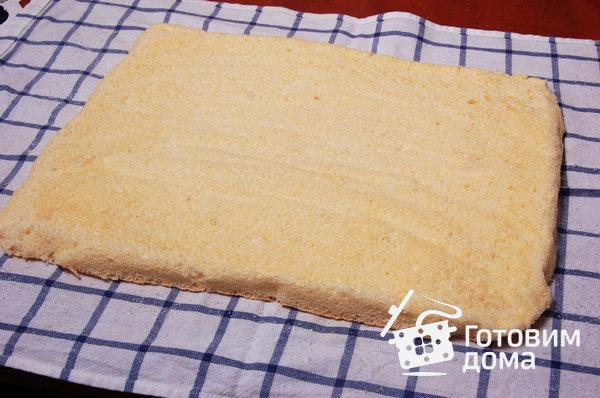 """Торт """"Очарование"""" (бисквит со взбитыми сливками и фруктами) фото к рецепту 4"""