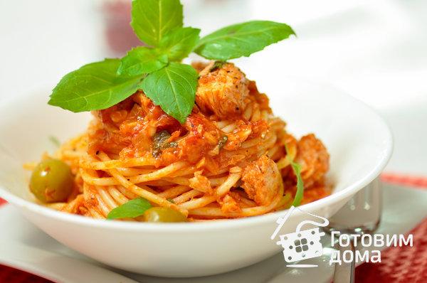 Паста с тунцом и помидорами фото к рецепту 6