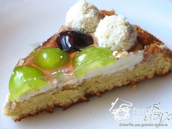 Итальянский бисквит с виноградом фото к рецепту 9