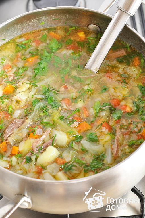 Суп из капусты со свининой рецепт