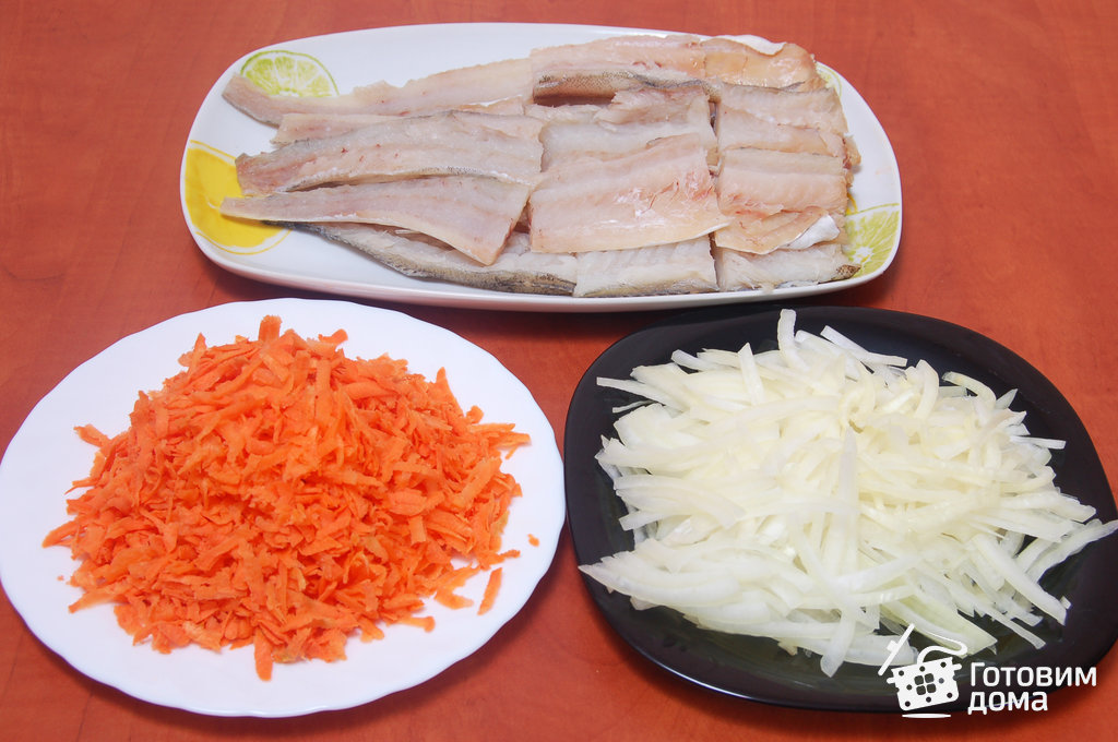 рыба с морковью и луком в духовке