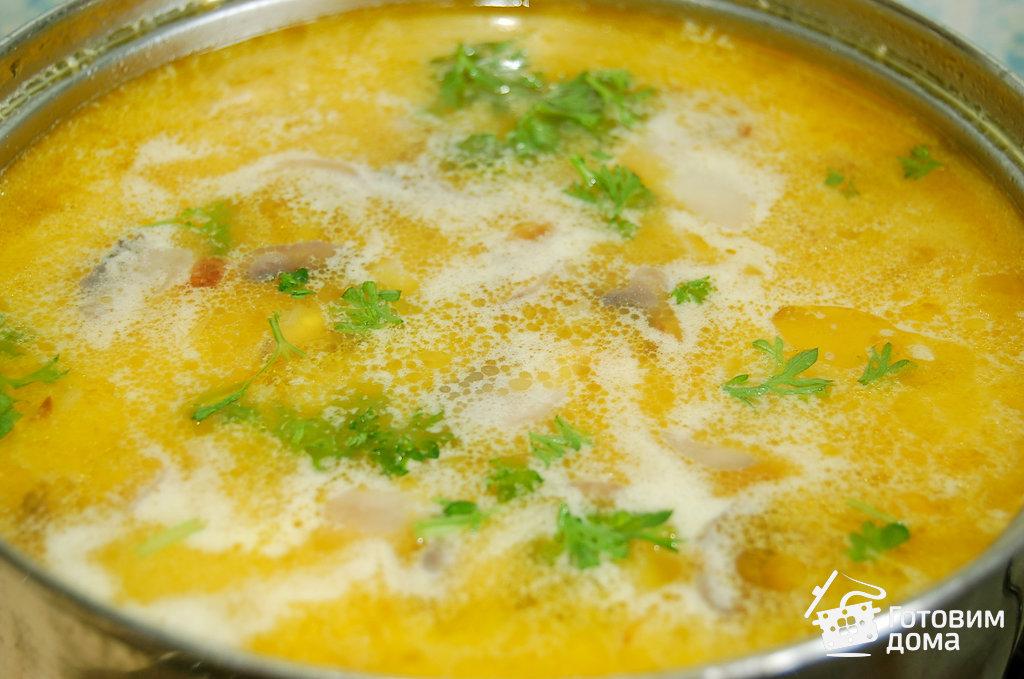 пошаговый рецепт грибного супа с плавлиными сырками