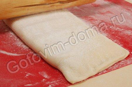 Слоеное бездрожжевое тесто фото к рецепту 10