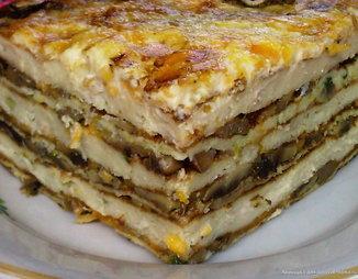 Закусочный рыбный торт наполеон
