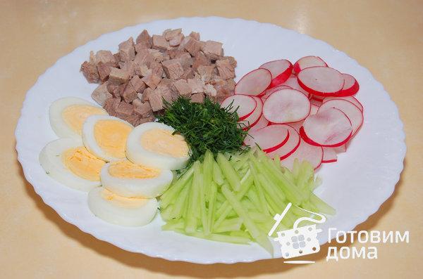 Окрошка мясная пошаговый рецепт 44