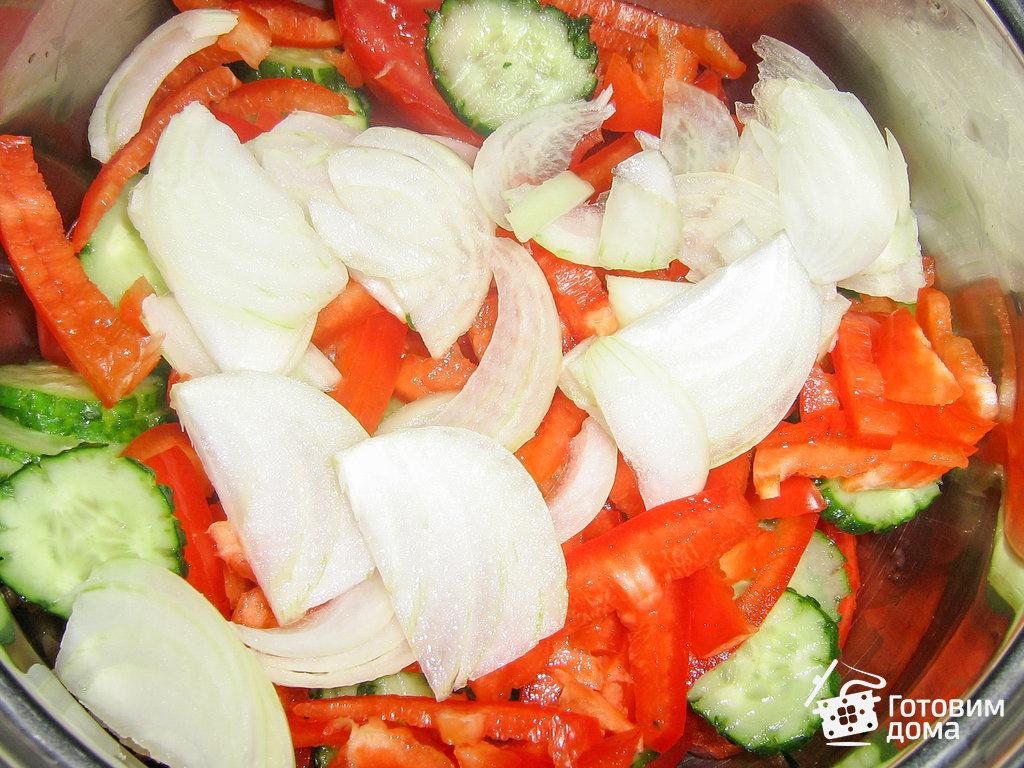 греческий салат постный рецепт с фото