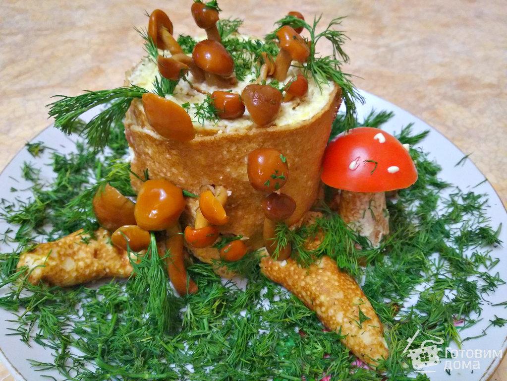 галку самом салат пенек рецепт с фото пошаговый вот