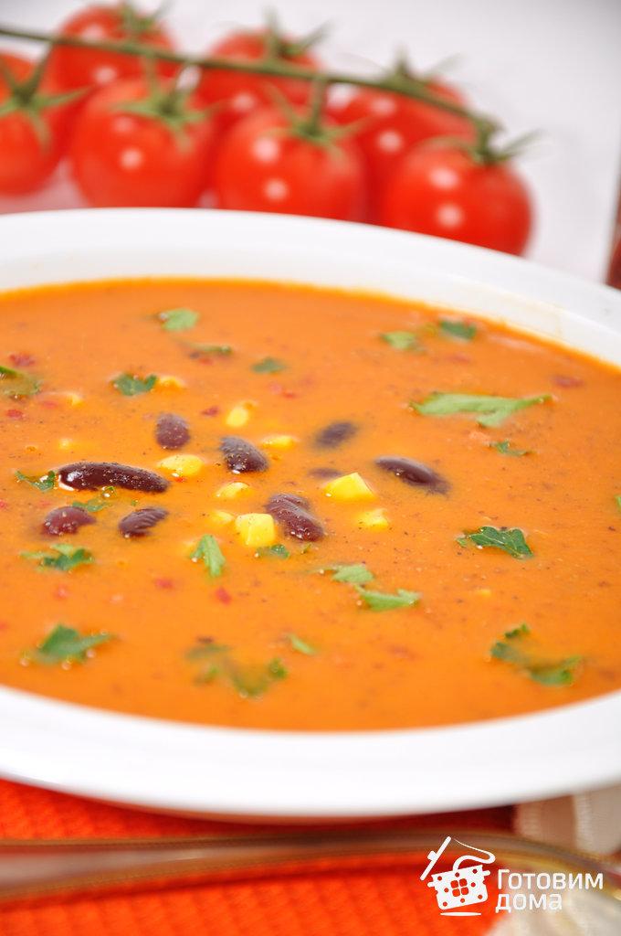 суп с фасолью с помидорами