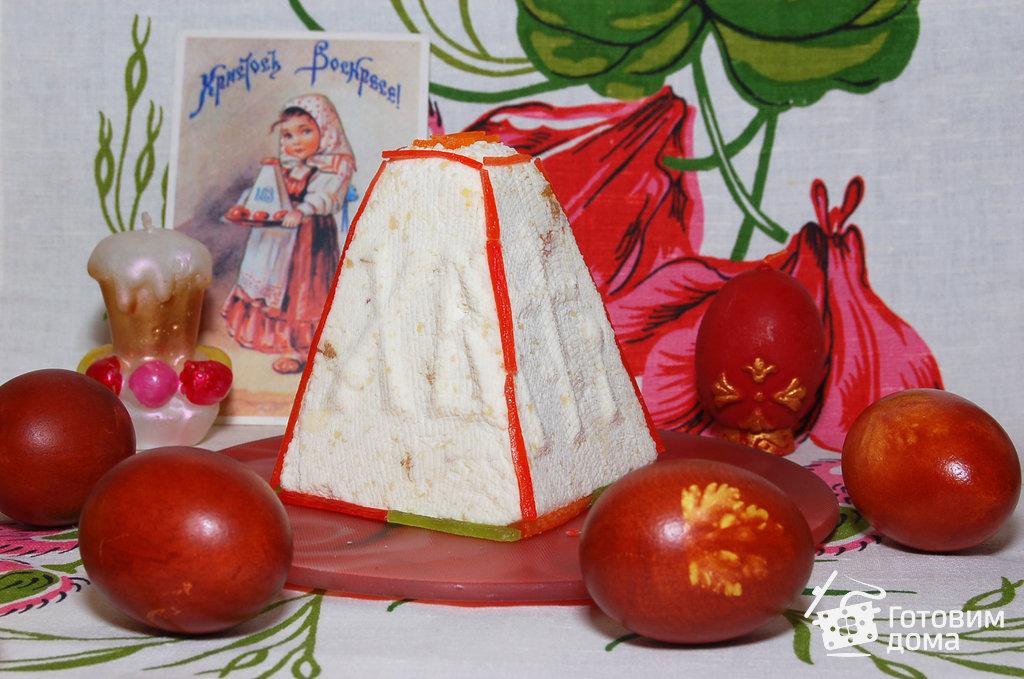 рецепт творожной паски с миндалем на скорую руку