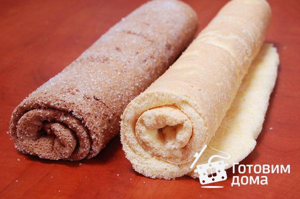"""Торт """"Очарование"""" (бисквит со взбитыми сливками и фруктами) фото к рецепту 6"""