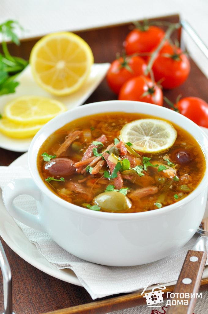 рецепт 1-го блюда солянка