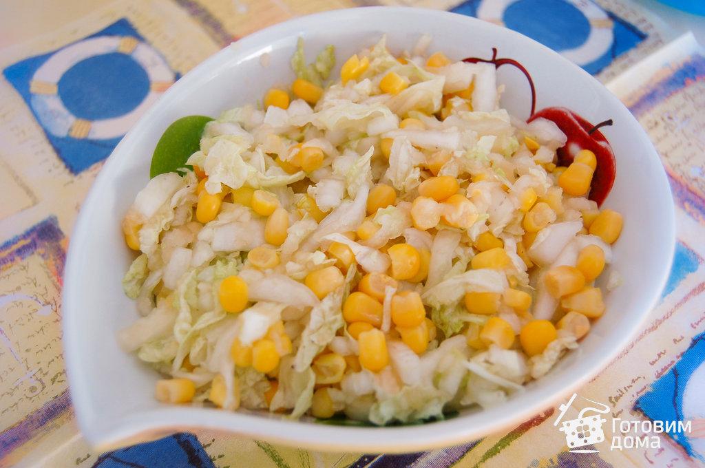 рецепты салатов с пекинской капустой и кукурузой
