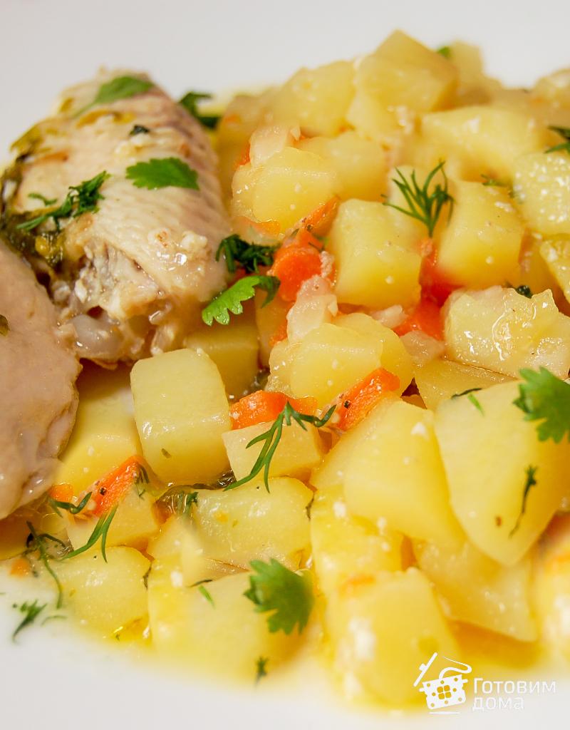 как тушить картошку на сковороде с мясом