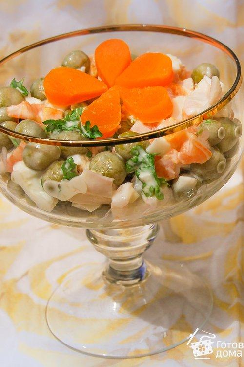 Салаты на новый год рецепты с из кальмаров