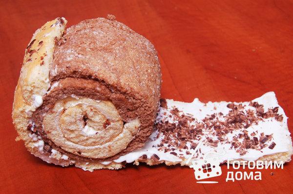 """Торт """"Очарование"""" (бисквит со взбитыми сливками и фруктами) фото к рецепту 13"""