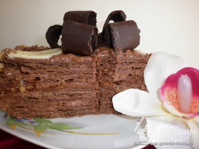 шоколадный наполеон рецепт с фото