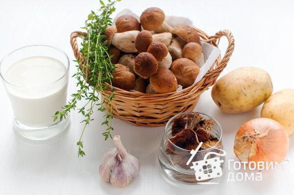 Суп с белыми грибами и сливками фото к рецепту 1